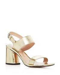 Marc Jacobs Emilie Metallic Strappy Sandals Gold