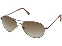 Randolph Amelia 57Mm Chocolate Gold Tan Gradient Nylon Fashion Sunglasses Brown