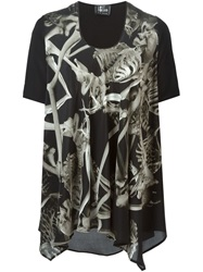 Lost And Found Skeleton Print Blouse Black