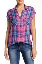 7 For All Mankind Rayon Cap Sleeve Blouse Pink