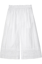 Miguelina Ria Broderie Anglaise Cotton Culottes White