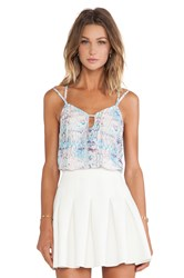 Lovers Friends Vacay Cami Blue