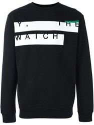 Mcq By Alexander Mcqueen Y The Watch Print Sweatshirt Black