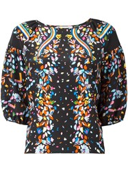 Peter Pilotto Floral Print Blouse Black