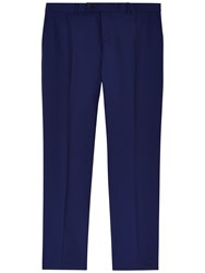 Jaeger Tailored Wool Mohair Trousers Blue