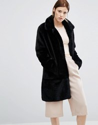 Urbancode Faux Fur Coat Black