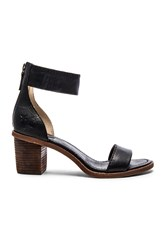 Frye Brielle Back Zip Sandal Black