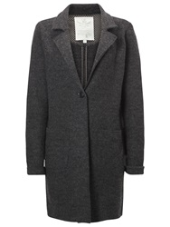 White Stuff Take Wool Coat Stone Grey