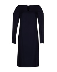 Veronique Branquinho Knee Length Dresses Dark Blue