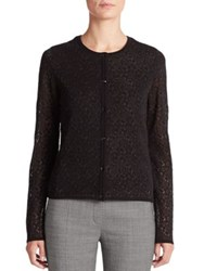 Escada Floral Fil Coupe Knit Cardigan