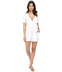 Athena Caley Romper White Women's Jumpsuit And Rompers One Piece