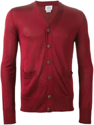 Vivienne Westwood Embellished V Neck Cardigan Red