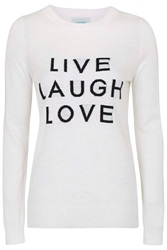 Slogan Wool Blend Jumper By Jovonna Cream