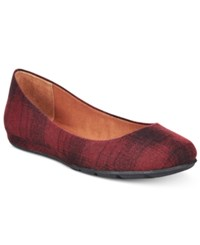 American Rag Ellie Flats Only At Macy's Women's Shoes Red Plaid