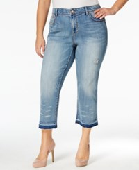 American Rag Plus Size Ripped Ren Wash Cropped Jeans Only At Macy's