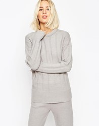 Asos Jumper With Padded Neck In Rib