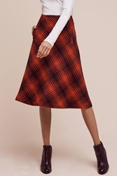 Anthropologie Foxford Plaid Mini Skirt Red Motif