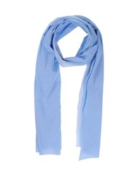 U Ni Ty Oblong Scarves Sky Blue