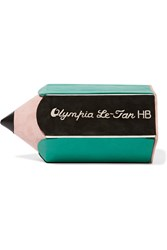 Olympia Le Tan Pencil Suede Paneled Leather Clutch Black