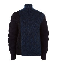 Stella Mccartney Chunky Knit Turtle Neck Sweater Female Blue