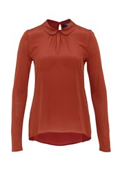 Hallhuber Round Collar Mix And Match Top Brown