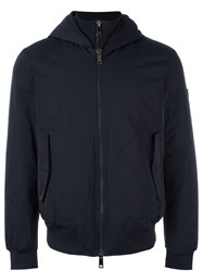 Armani Jeans Hooded Jacket Blue