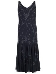 Chesca All Over Beaded Dress Navy