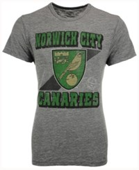 47 Brand '47 Men's Norwich City Fc Crest Tri State T Shirt Charcoal Heather