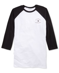 Billabong Men's Raglan Graphic Print T Shirt White