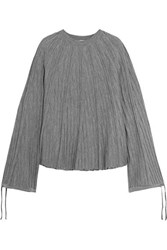 Chloe Ribbed Wool Jersey Sweater Gray