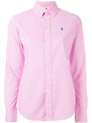 Ralph Lauren Gingham Check Shirt Pink And Purple