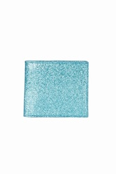 Opening Ceremony Glitter Bi Fold Wallet Turquoise