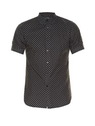 Alexander Mcqueen Micro Skull Print Short Sleeved Shirt Black Multi