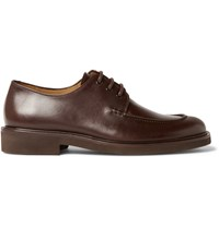 A.P.C. Split Toe Leather Derby Shoes Brown