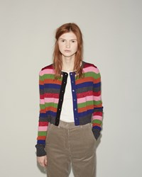 Hache Striped Cardigan Printed