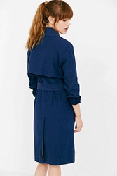 Shades Of Grey Lightweight Trench Coat Dark Blue