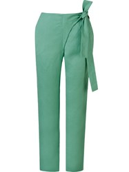 Fernanda Yamamoto High Waisted Straight Trousers Green