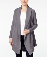Styleandco. Style Co. Shawl Collar Open Front Cardigan Only At Macy's Bold Heather Grey