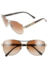 Burberry Women's 59Mm Aviator Sunglasses Matte Gold