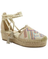 Nanette By Nanette Lepore Bitsy Flatform Espadrilles Women's Shoes Natural