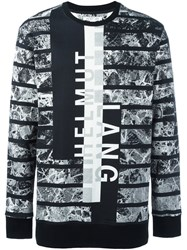 Helmut Lang All Over Print Sweatshirt Black