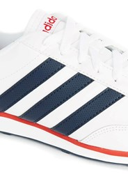 Topman Adidas White And Navy Stripe Trainers
