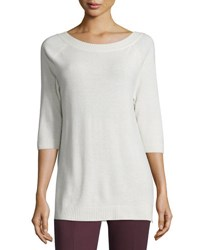 Max Mara Re V Back Cashmere Sweater Ivory