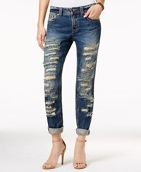Miss Me Ripped Boyfriend Medium Blue Wash Jeans