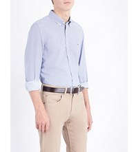 Tommy Hilfiger Alexander Slim Fit Cotton Shirt Dutch Navy Classic White