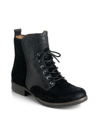 Naya Agave Leather Boots Black