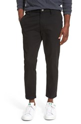 Men's Rvca 'Hitcher' Tapered Fit Cropped Pants Black