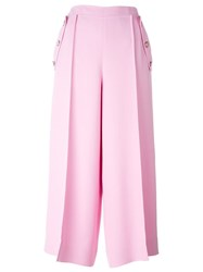 Emilio Pucci Pleated Culottes Pink And Purple
