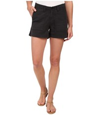 Dylan By True Grit Effortless Stretch Cotton Classic Cargo Shorts Vintage Black Women's Shorts