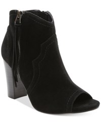 Xoxo Barron Peep Toe Block Heel Booties Women's Shoes